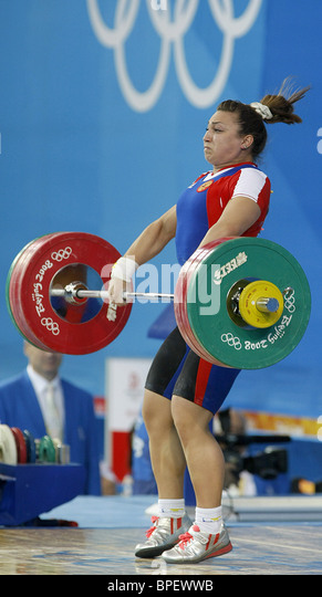 Beijing Olympic Games: weightlifting - Stock Image