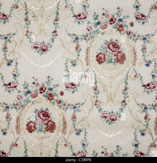 Wallpaper of floral pattern - Stock Image