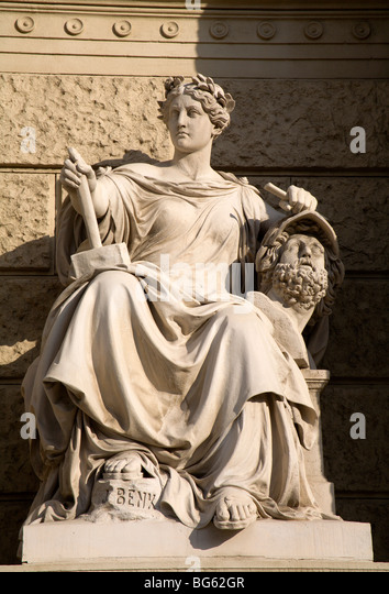 mythology from vienna - statuary goddess - Stock Image