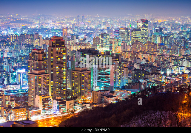 Seoul, South Korea cityscape - Stock Image