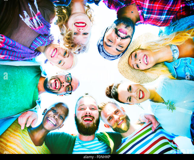 Friends Friendship Leisure Vacation Togetherness Fun Concept - Stock-Bilder