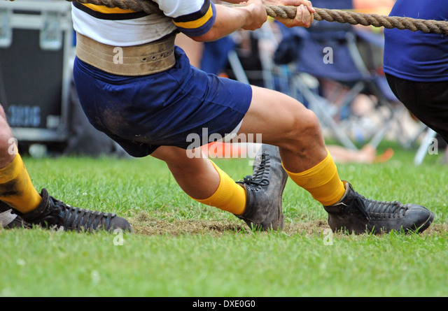 Tug-of-war, Sport, - Stock Image