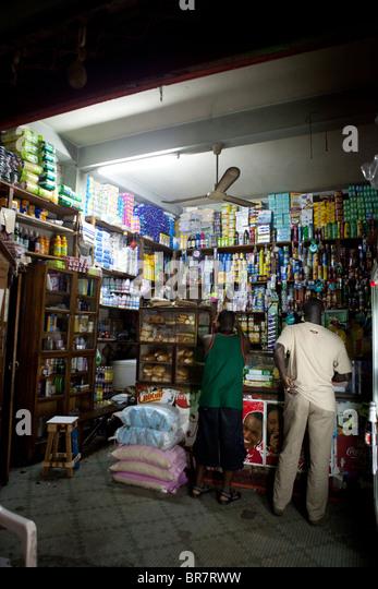 shop Senegal Dakar Africa - Stock Image