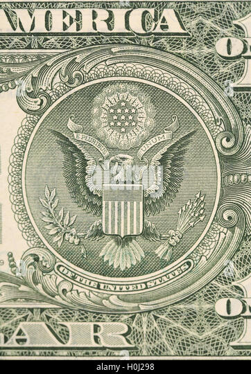 Dollar eagle banknote close up. - Stock Image