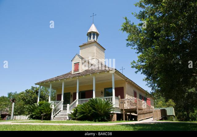 La Chapelle, Vermilionville, Lafayette, Louisiana. - Stock Image