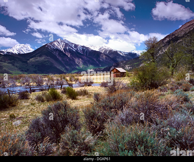 A view of the wilderness near Twin Lakes in Colorado. - Stock Image