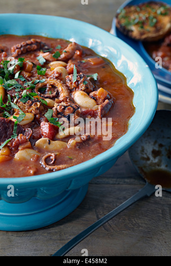 Octopus stew - Stock Image