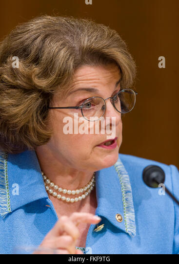 WASHINGTON, DC, USA - U. S. Senator Dianne Feinstein (D-CA) during confirmation hearings, Supreme Court nominee - Stock Image