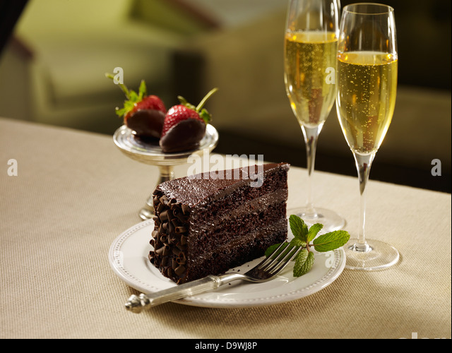 Chocolate cake - Stock Image