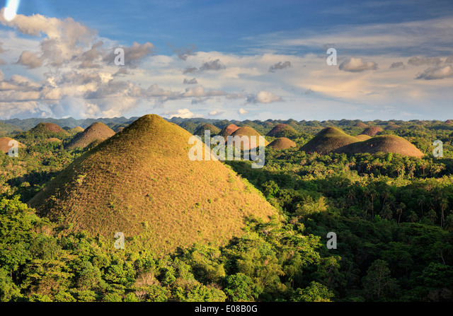 Philippines, Bohol, Chocolate Hills - Stock Image