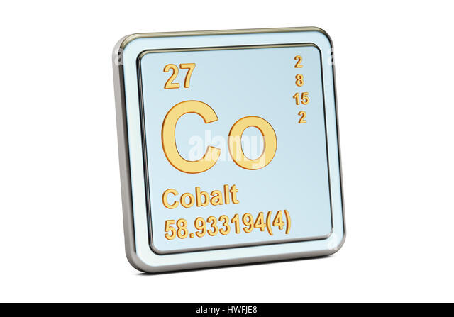 chemical element and cobalt Cobalt is a chemical element identified by the symbol co on the periodic table of  elements cobalt is a transition metal, which is an element that is shinier, harder.