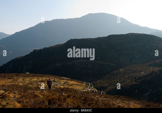 Rhinog Fawr, Rhinog Mountains, Snowdonia, North Wales, UK - Stock Image