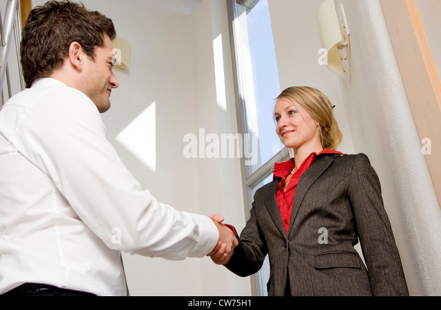 business handshake - Stock Image