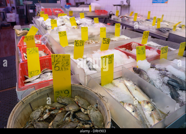 Asian fish market stock photos asian fish market stock for Fish market nyc
