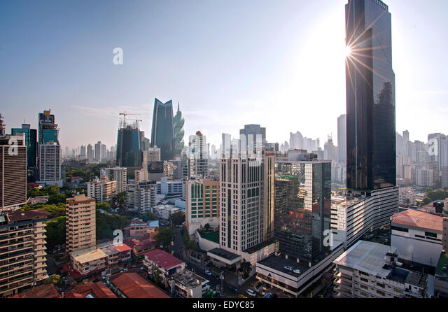 Skyline of Panama City, Panama - Stock-Bilder