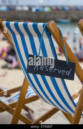 Deck Chair Beach England Stock Photos Amp Deck Chair Beach
