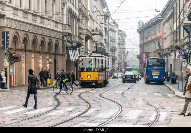 City View of Milan, Italy - Stock Image
