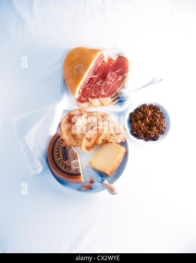 Spanish Tapas Platter - Stock Image