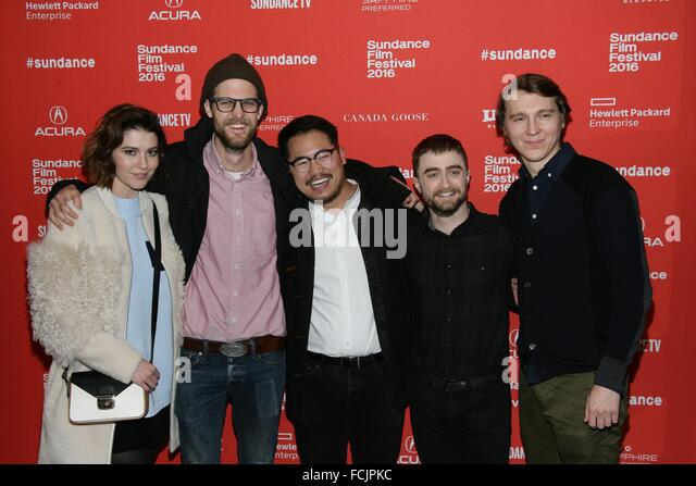 Park City, UT, USA. 22nd Jan, 2016. Mary Elizabeth Winstead, Daniel Scheinert, Dan Kwan, Daniel Radcliffe, Paul - Stock Image