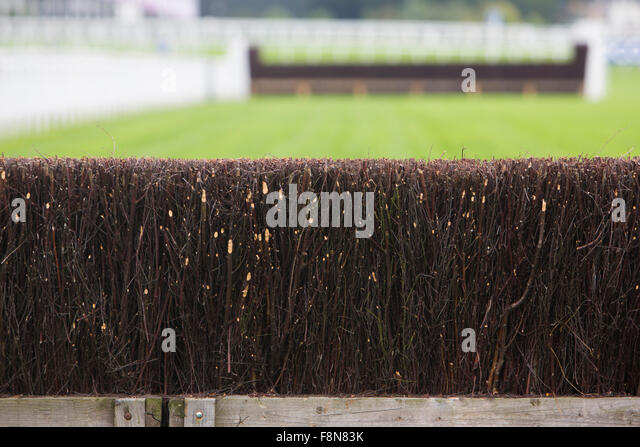 Fence On Horse Racing Track - Stock Image