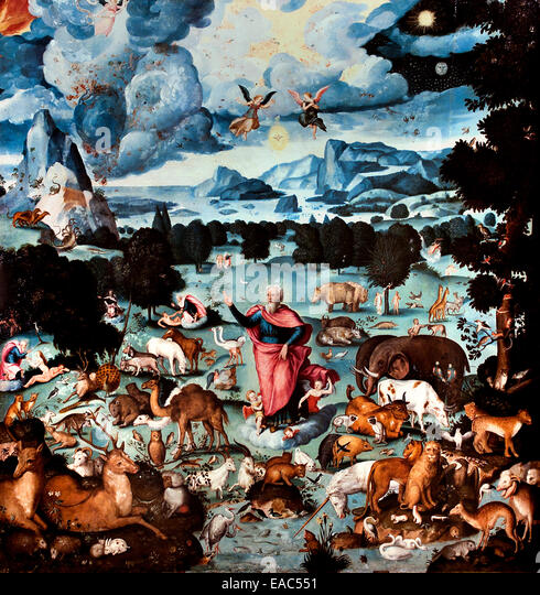 The earthly Paradise - Hans Bocksberge1510–1561  Austrian Austria painter - Stock Image