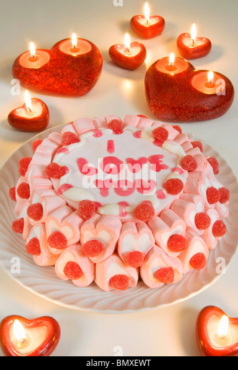 Cake, I love you, - Stock Image