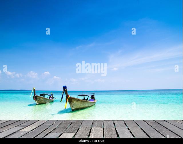 Tropical beach, Andaman Sea, Thailand - Stock Image