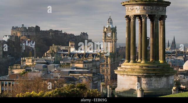 Stewart Monument, Carlton Hill, Edinburgh, Scotland - Stock-Bilder