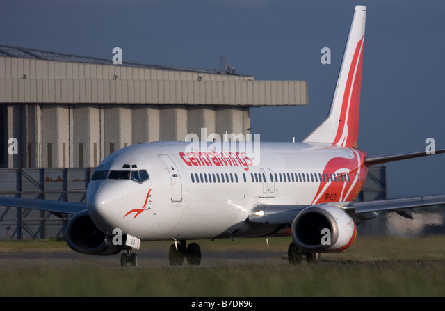 Centralwings Boeing 737-45D at London Heathrow airport. - Stock Image