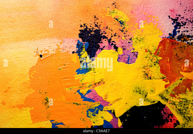 Painted Artist  14 - Stock Image
