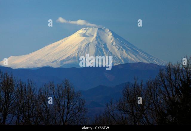 Mount Fuji view from Rokudoyama park Tokyo Japan - Stock Image