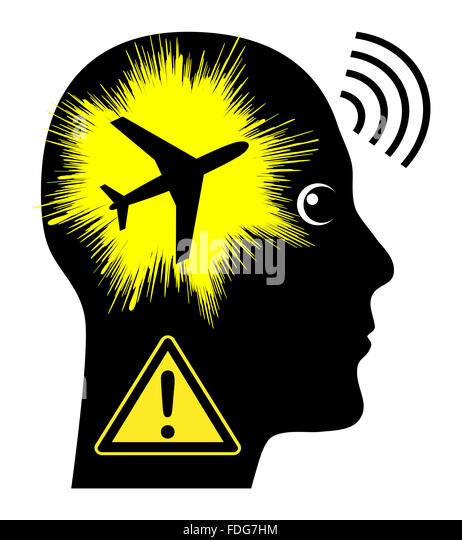 Noise Pollution by Aircraft - Stock Image