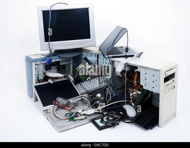 commodity electronic waste - Stock Image