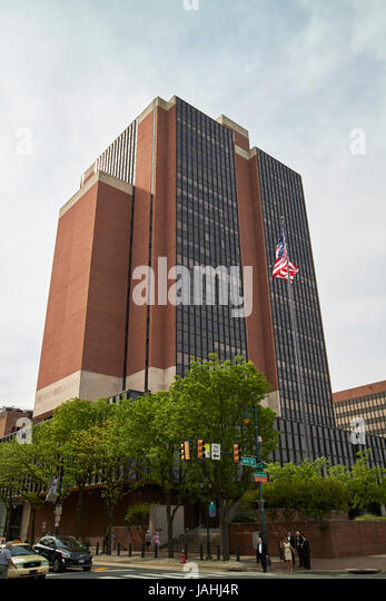 James A Byrne U.S. Courthouse building Philadelphia USA - Stock Image