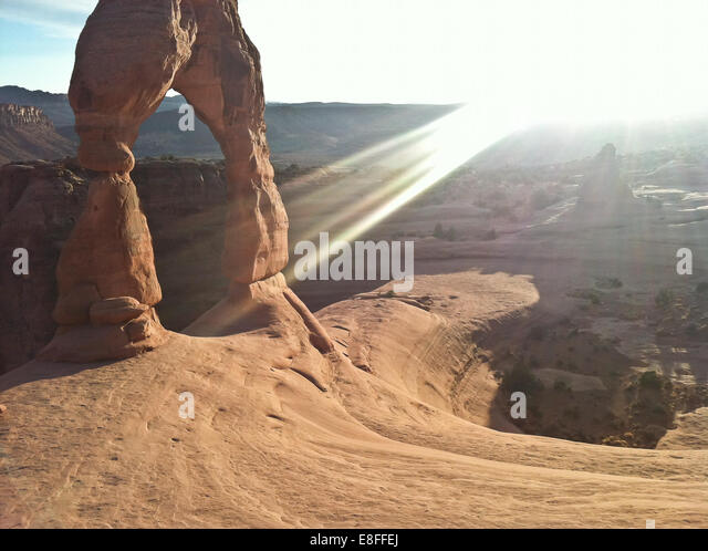 USA, Utah, The Arches National Park, Delicate Arch - Stock Image
