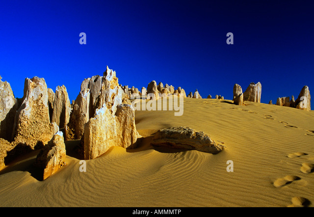The Pinnacles Cervantes National Park Western Australia - Stock Image