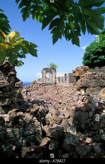 Dominica West Indies Caribbean Fort Shirley Cabrits National Park - Stock Image