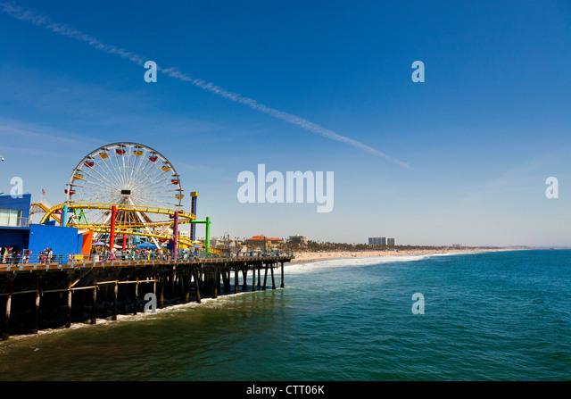Santa Monica Pier, Los Angeles - Stock Image
