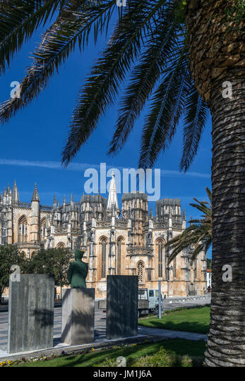 Monastery of Batalha - a Dominican convent in the town of Batalha, in the Centro Region of Portugal. it was erected - Stock Image