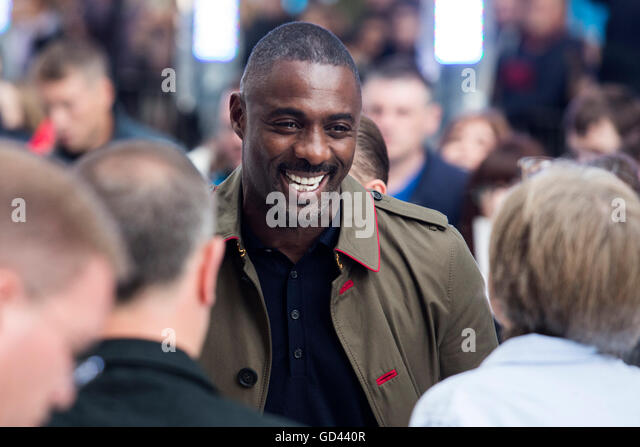 London, UK. 12 July 2016. Actor Idris Elba. Red carpet arrivals for Star Trek Beyond. Paramount Pictures presents - Stock Image
