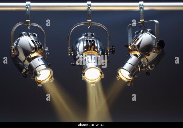 Three Spotlights - Stock-Bilder