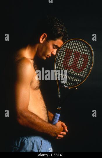 Portrait of Pete Sampras, 1995 - Stock Image