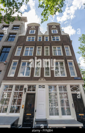 Amsterdam Herengracht twin house from 1664Amsterdam, Netherlands - Stock Image