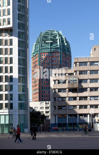 Zurich tower in the center of The Hague, Holland - Stock Image