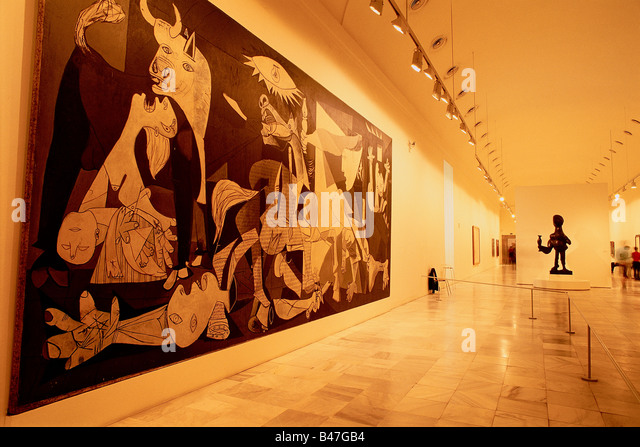 Spain - Madrid - Centro de Arte Reina Sofia - Queen Sofia Art Center - Museum of Modern 20th permanent room of exhibition - Stock-Bilder