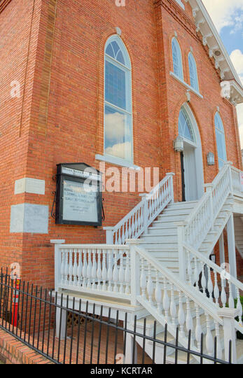Dexter Avenue King Memorial Baptist Church in Montgomery, Alabama, USA. - Stock Image