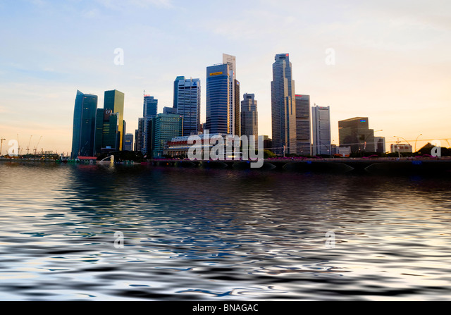 Skyline of Singapore - Stock-Bilder