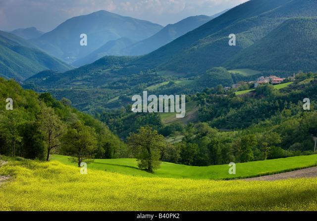 spring in the Valnerina near Meggiano, Umbria, Italy - Stock-Bilder
