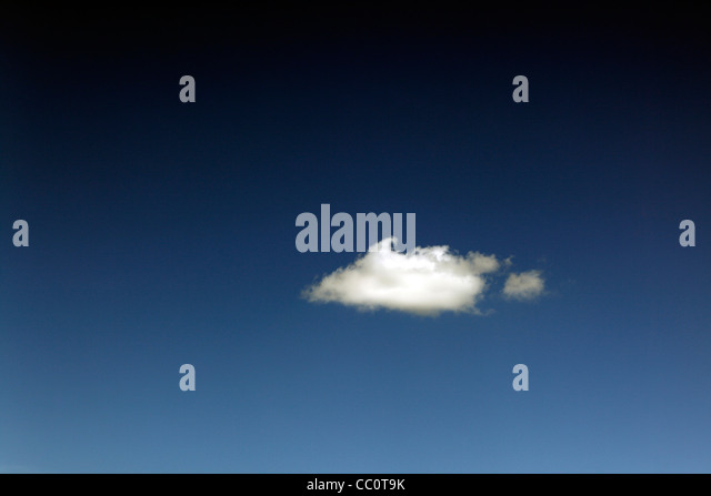 One Single Cloud in sky - Stock Image
