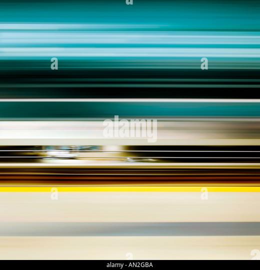 blue yellow brown New York journey - Stock Image